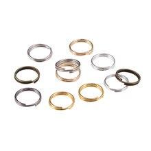 50-200 pçs/saco 4 5 6 8 10 12 mm anéis de salto aberto laços duplos anéis de divisão conectores para diy jóias fazendo descobertas acessórios