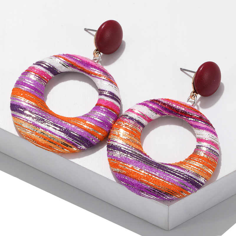 Boho Jewelry Newest Fashion Earrings For Women European Design Geometric Circle Earrings ZA Drop Earrings Gift For Friends