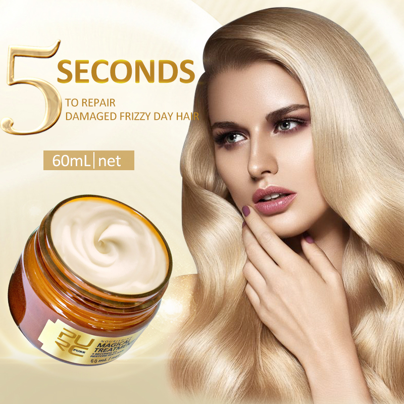 PURC Волшебная лечебная маска 5 секунд восстанавливает поврежденные мягкие волосы 60 мл для всех типов волос Кератиновый Уход за волосами и ко...