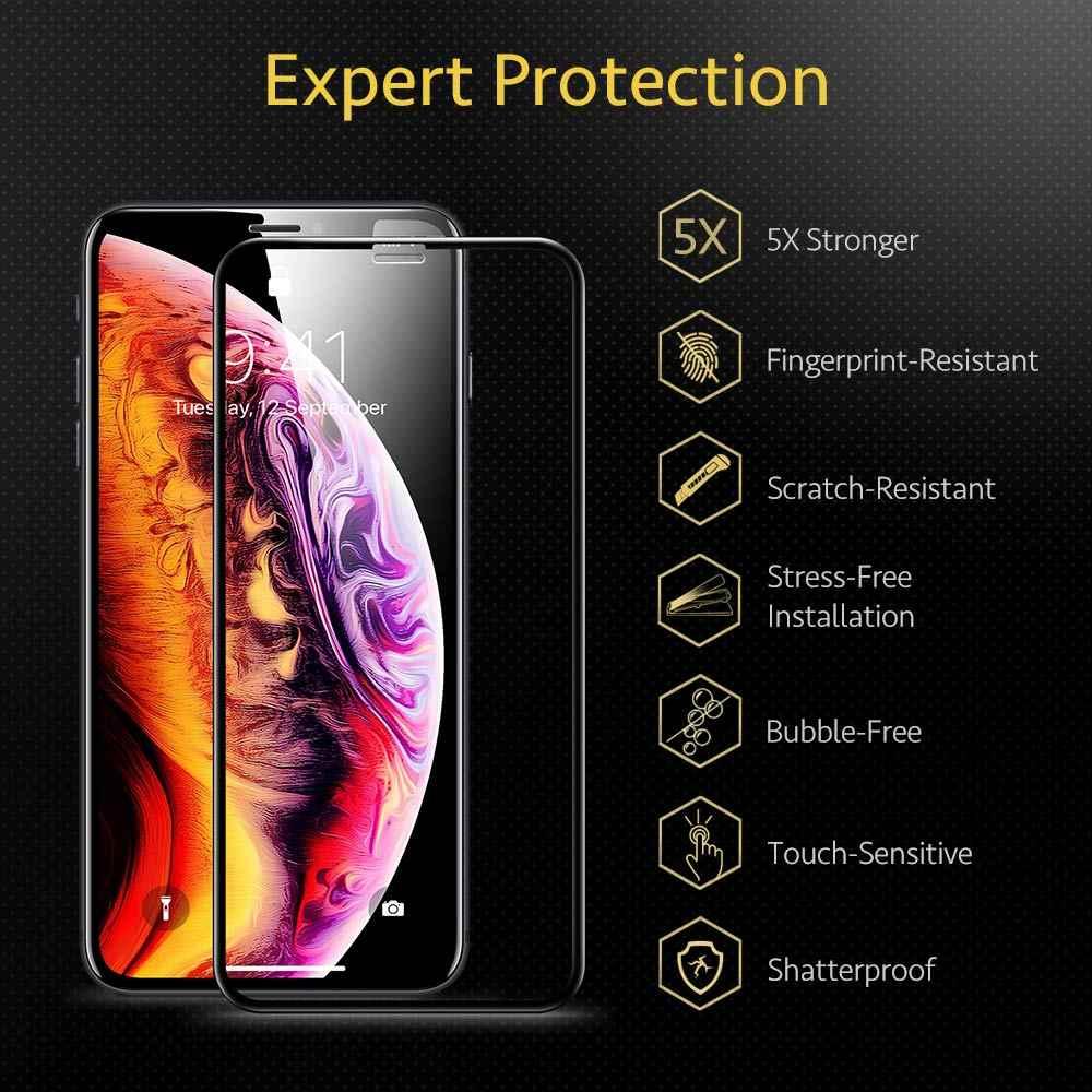 Esr 2 個スクリーンプロテクター 11 プロx xs xr xs最大 3Dフルカバー強化ガラスiphone se 2020 スクリーンガラスフィルム