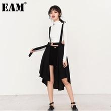 Temperament-Strap EAM Irregular-Bandage Skirt Women Spring High-Waist Autumn Fashion