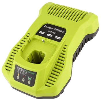 12V-18V Charger Replacement For Ryobi P117 Rechargeable Battery Pack Power Tool Battery Intelliport Technology(Eu Plug)