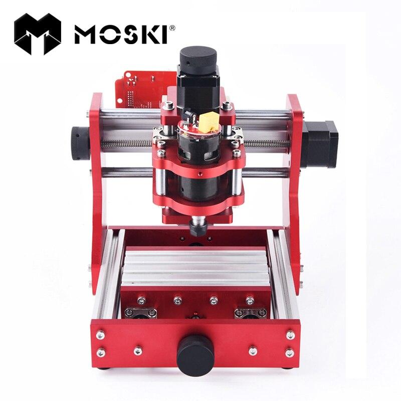 MOSKI, machine de CNC, CNC 1310, découpeuse de gravure en métal, mini machine de CNC, routeur de CNC, machine de gravure de cuivre en aluminium de carte pcb de pvc