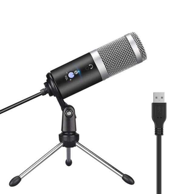 Micro à condensateur USB GGMM F1 pour ordinateurs portables Mac enregistrement en Studio cardioïde en Streaming voix vocale sur karaoké Youtube etc.