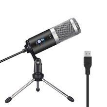 Microfone do condensador do usb de ggmm F1 para computadores do mac do portátil gravação do estúdio do cardióide que flui a voz vocal sobre o youtube do karaoke etc.