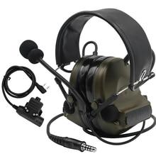 Casque tactique Comtac II casque militaire réduction du bruit prise sonore Protection de loreille FG + U94 PTT Kenwood prise 2 broches
