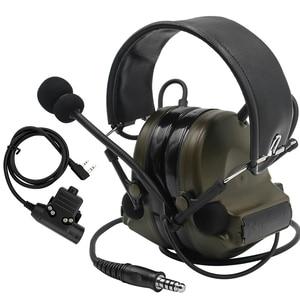 Image 1 - Comtac II Tactical Headset Military headphones Noise Reduction Sound Pickup Ear Protection FG+ U94 PTT Kenwood 2 pin Plug