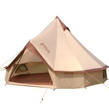 Палатка монгольская Юрта на 8 10 человек, Большая водонепроницаемая семейная палатка из ткани Оксфорд для самостоятельного вождения, кемпинга, выживания на природе и пикника