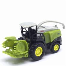 1: 55 liga agricultor pequena colheitadeira máquina agrícola veículo liga carro deslizante função modelo de carro brinquedos para crianças presente