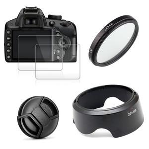 Image 1 - UV FILTER + EW63 เลนส์ + หมวก + 2x สำหรับ Canon EOS 200D Mark II 250D rebel SL2 SL3 เลนส์ 18 55 มม.