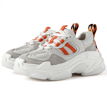 2019 Fashion Style Platform Black Beige Chunky Sneakers Dad Shoes Basket Femme Women Vulcanize H080