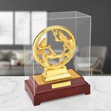 ثلاثية الأبعاد الذهب العقرب التماثيل الحلي 24k الذهب احباط الزفاف ديكور محظوظ الثروة سطح المكتب الحرف ديكور غرفة مكتب المنزل هدايا الزفاف