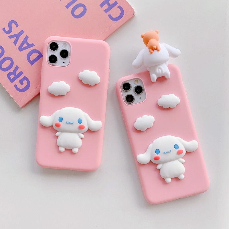 3D Cartoon Dog TPU Case For Iphone 11 12Pro Max Soft Case For Iphone X XR XS Max 7 8 Plus 6 6Splus 5 5S SE