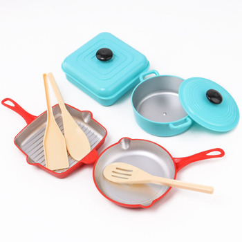 Children Pretending To Play Kitchen Toys Cooking Utensils Tableware Kids Toy Set Boys Girls Children's Educational Toys puzzles alatoys lb1032 play children educational busy board toys for boys girls lace maze