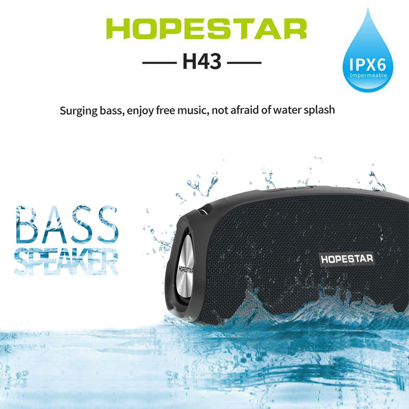 HOPESTAR-H43 <font><b>Bluetooth</b></font> <font><b>speaker</b></font> For Phone Computer 20W Wireless Outdoor IPX6 <font><b>Waterproof</b></font> Super Bass Stereo Loudspeakers With strap image