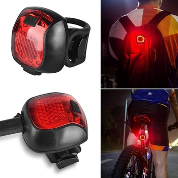Bike Taillight Waterproof Riding Rear Light Led Usb Chargeable Mountain Bike Headlight Cycling Light Tail-lamp image