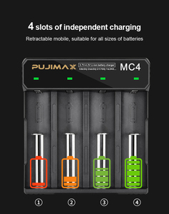 Image 2 - PHOMAX 4 Slot 18650 MC4 LED Smart Display Battery fast charging 17650 18700 14500 26500 IMR/Li Ion Rechargeable Battery Charger
