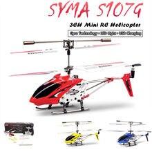 Syma s107g rc helicóptero 3.5ch liga helicóptero quadcopter embutido giroscópio helicóptero modelo de acelerador de mão esquerda para crianças brinquedo ao ar livre