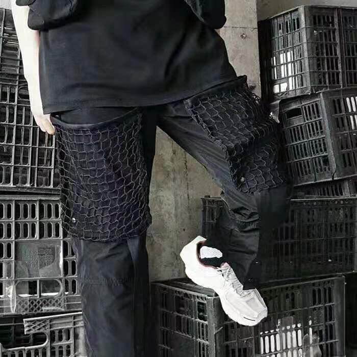 19SS nouveau ACW A-COLD-WALL pantalons de survêtement hommes femmes détachable grande maille poche salopette A-COLD-WALL ACW cheville-longueur pantalon pantalon