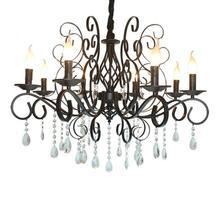 10 Lights Luxury Crystal Farmhouse Chandelier Lighting,Island Ceiling Light for Dining Room Bed Kitchen Room,3/5/6/8 light