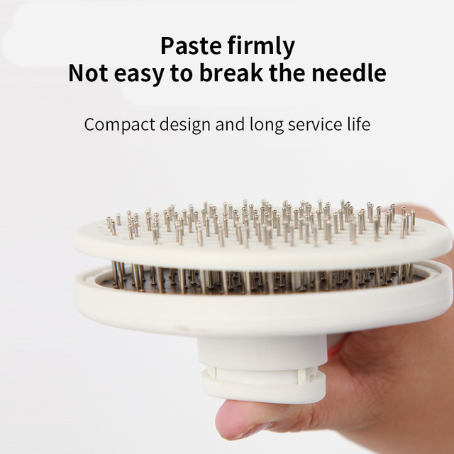 Pet Comb Self Cleaning Brush Comfortable Handle Automatic Quick Clean   2