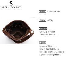 SC Brand Style Vintage Leather Shoulder Bag Female Classic Hobo Handbag Ladies Retro Leather Women Totes Daily Work Purses&Bags