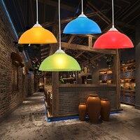 Lustre moderno de jardim de infância  roupa  loja  colorido  plástico  lâmpada  lustre  corredor  bar  superfície  lustre