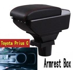 Dla Toyota Prius C podłokietnik ze schowkiem centralny pojemnik do przechowywania sklepu z uchwytem na kubek popielniczka USB Prius podłokietniki box