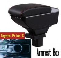 Para toyota prius c caixa de apoio de braço loja central caixa conteúdo com suporte copo cinzeiro usb prius braços caixa