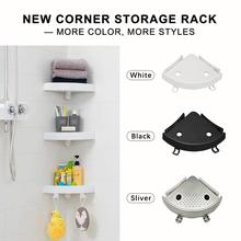 Bathroom Shower Shelf Multifunctional Corner Storage Rack 2 Hooks for Towel hanging Shampoo Holder Suction