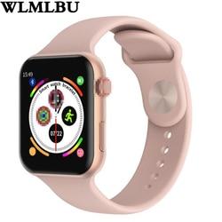 F10 Smart Watch Full Layar Sentuh Heart Rate Tekanan Darah Olahraga Pelacak Kebugaran untuk Apple IOS Android PK Iwo 8 9 10 W88