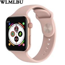 F10 reloj inteligente completa pantalla táctil con frecuencia cardíaca sangre presión Deportes Fitness para apple ios Android PK Iwo 8 9 10 W88