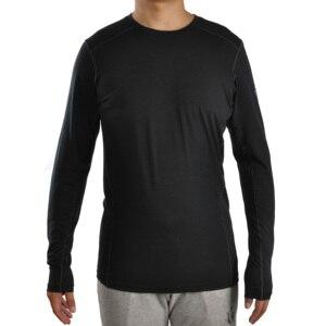 Image 1 - ผู้ชายกีฬาฟิตเนสกลางแจ้ง Merino Wool Blend แขนยาว bottoming Breathable และ Quick drying