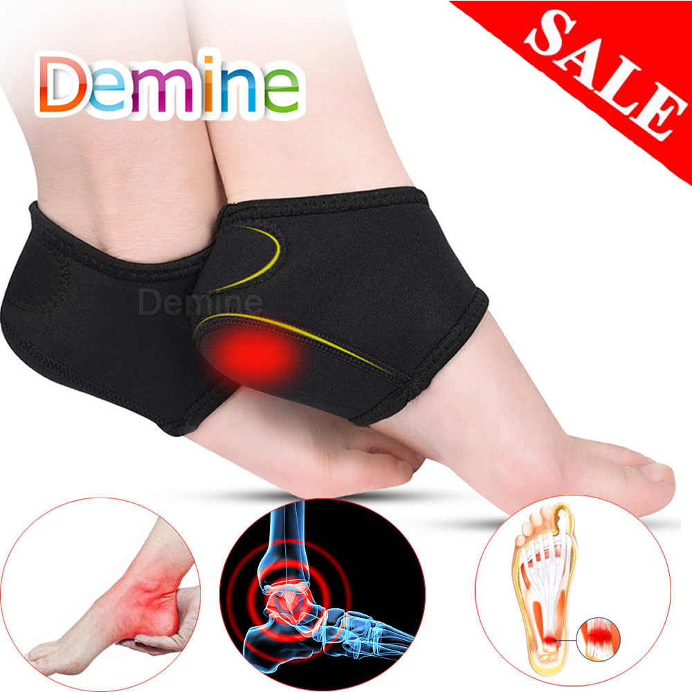 Demine Plantar Fasciitis Socks for Achilles Tendonitis Calluses Spurs Cracked Pain Relief Heel Pads Men Women Foot Care Inserts