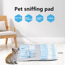 Dog Snuffle Mat Puppy Cat Pet Sniffing Training Soft Pet Nose Pad Puppy Activity Training Blanket Detachable Fleece Pads