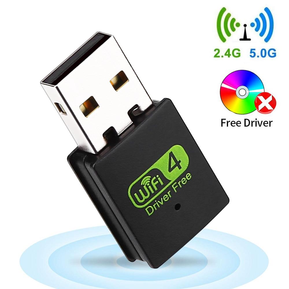 USB WiFi Adapter 300Mbps Dongle Card Wireless Network Desktop PC Laptop Notebook