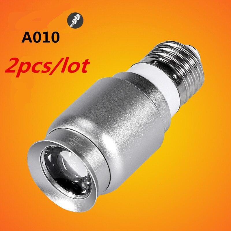 Big sale 2pcs/lot 1W Mini E27 Base Screw Focusable LED Spotlight Bulb For Coffee Bar Lighting AC100-240V