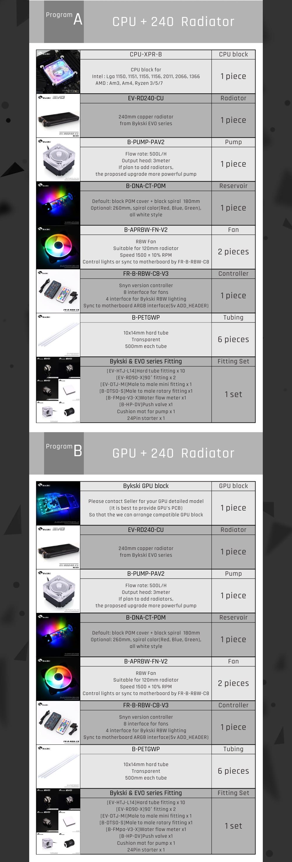 Bykski B-HTRBW-ED, RBW 5v 3pin Hard Tube Program Kits, Multiple Programs Customizable Modification For Intel/AMD Cooling KitBykski B-HTRBW-ED, RBW 5v 3pin Hard Tube Program Kits, Multiple Programs Customizable Modification For Intel/AMD Cooling KitBykski B-HTRBW-ED,Bykski RBW 5v 3pin hard tube program,Bykski AMD cooling kit