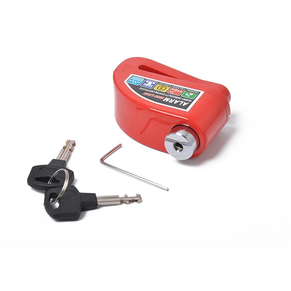 None Motorcycle Electric Car Anti-theft Disc Brake Lock Electric Bicycle Alarm U Shape Lock