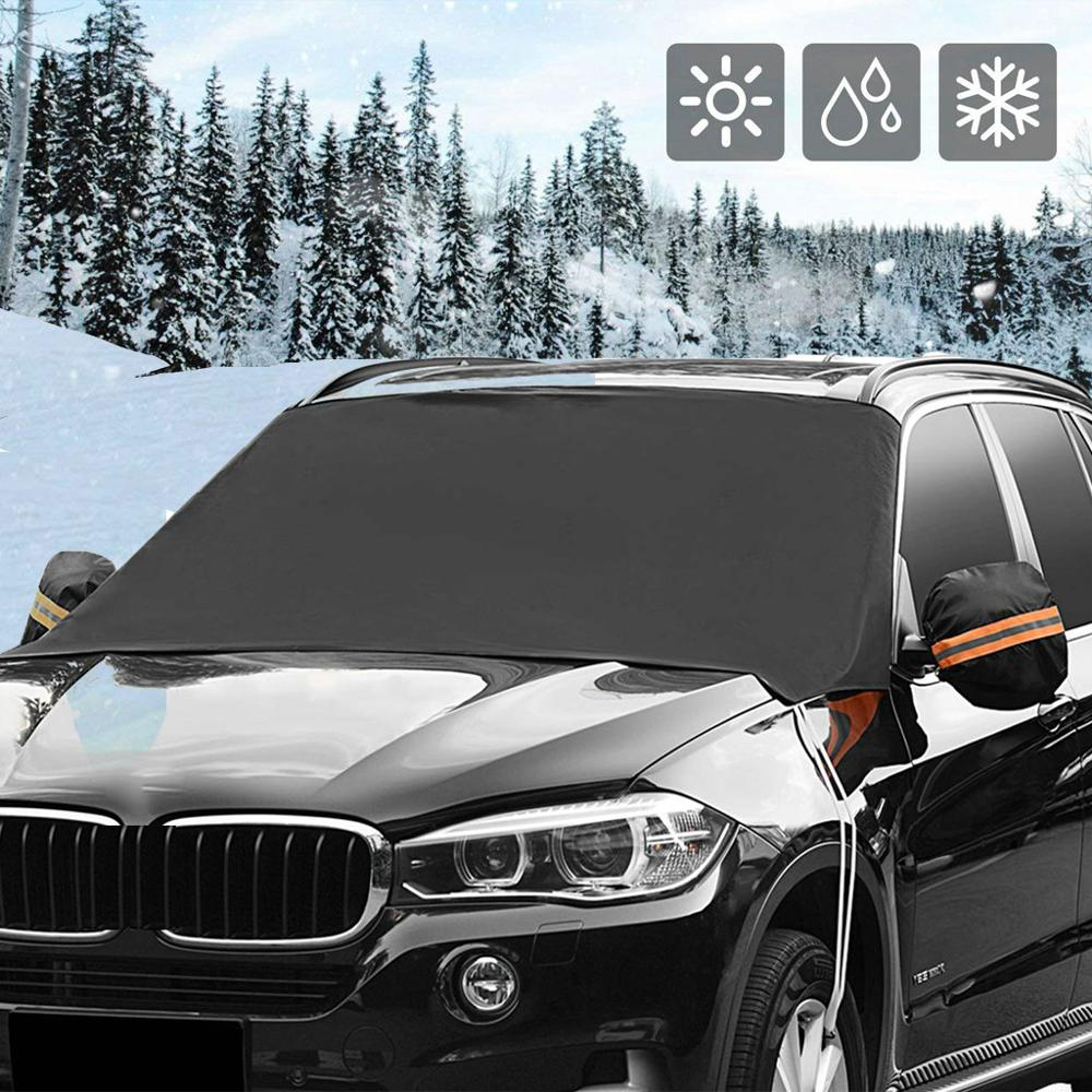220x127cm Auto Windshield Snow Cover No Magnetic Waterproof Car Ice Frost Sunshade Protector Car Styling Dropshipping