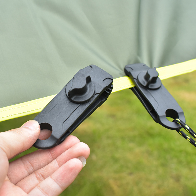 10pcs Heavy Duty Camping Tarp Clips Tent Awning Clamps with Thumb Screw SEC88 Tent Accessories     - title=