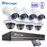 Kit de NVR Poe H.265 8CH 1080P HDMI hasta 16CH sistema CCTV 2MP Interior Exterior Audio Domo IP cámara Video vigilancia de seguridad