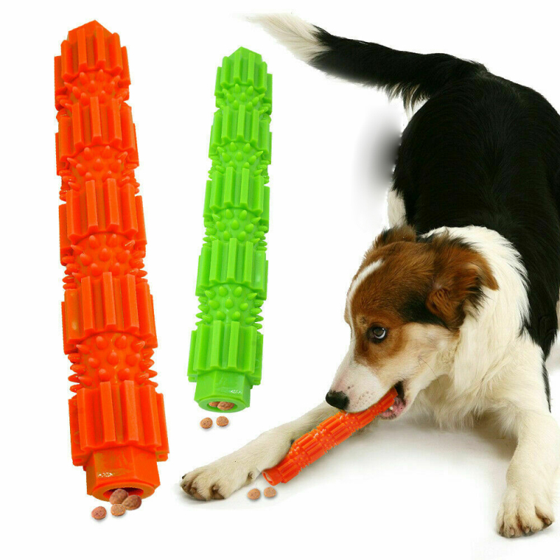 Durable Dog Chew Toy-Aggressive Chewing Bone Toy Dog Toothbrush Stick Soft Rubber Small Dog Toothpaste Pet Toothbrush image