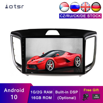 AOTSR Android 10 2+16G Stereo Car GPS For Hyundai IX25 Creta 2014-2018 Navigation Multimedia Player Tape Recorder DSP Radio