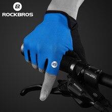 ROCKBROS – gants de cyclisme demi-doigt pour hommes, résistants aux chocs, respirants, pour vtt et vélo de montagne