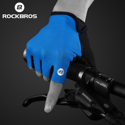 ROCKBROS Cycling Gloves Half Finger Bike Gloves Shockproof Breathable MTB Mountain Bicycle Gloves Men Sports Cycling Clothings