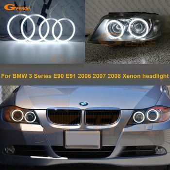 For BMW E90 E91 323i 325i 328i 328xi 330i 335i 2005 2006 2007 2008 Excellent quality CCFL Angel Eyes Halo Ring Car styling for bmw e90 m3 look carbon fiber trunk spoiler wing 3 series sedan 318i 320i 323i 325i 328i 335i add on style rear wings 2005 11