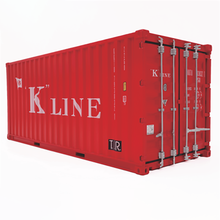 Modelo de camión fundido a presión, caja contenedor de accesorios a escala 1/20, juguete de simulación, un contenedor