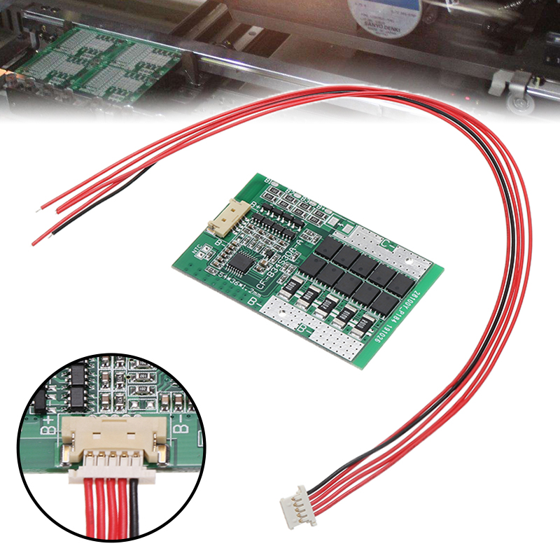 1pc Mayitr 4S 14.8V 30A 18650 Li-ion Lithium Battery Cell BMS PCB Protection Board Balance Over Charge Protection Board