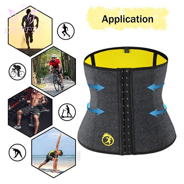 LANFEI Body Shaper Waist Trainer Slimming Shapewear Men Neoprene Sauan Sweat Weight Loss Belt Gym Fitness Modeling Strap Corset 5